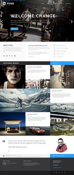 Fuse - Portfolio and Small Agency PSD Template by Zizaza - design ocean , via Behance web design Web Design Mobile, Web Ui Design, Graphic Design, Email Design, Blog Design, Print Design, Packaging Inspiration, Website Design Inspiration, Creative Inspiration