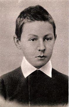 A very young Sergei Rachmaninov