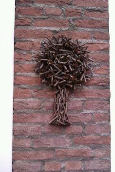 Leuke boom voor aan de muur