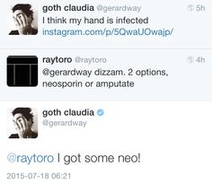 throwback to when Gee got that really bad burn on his hand and he almost amputated it