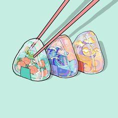 Cute Food Drawings, Cute Animal Drawings Kawaii, Arte Do Kawaii, Kawaii Art, Cute Art Styles, Cartoon Art Styles, Cute Cartoon Wallpapers, Animes Wallpapers, Cute Food Art