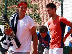 tênis rafael nadal e Novak djokovic treino ATP de Monte Carlo (Foto: Agência Reuters)