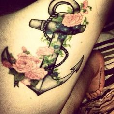 Anchor with flowers tattoo! My next tattoo but a little different! I'm in love with this