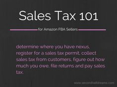 Sales Tax 101 for Amazon FBA Sellers