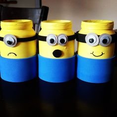 Minions out of baby food jars