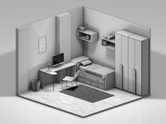 c4d low poly interior - Google 검색