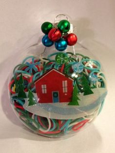 Rainbow Loom Christmas Ornament! http://www.mastermindtoys.com/Rainbow-Loom-and-Related-Products.aspx