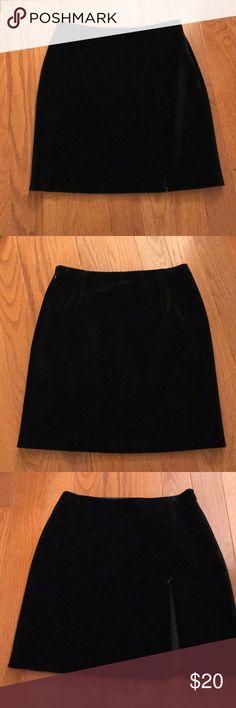 Black velvet skirt. Classy velvety skirt still has tags on it. The Limited Skirts Circle & Skater