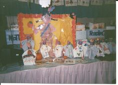 More of the dolls, to dye the macaroni, put some rubbing alcohol and food coloring.  Put the alcohol and food coloring in a plastic bag, then put in your macaroni in, flip the bag over to cover the macaroni.  When it gets the color that you want it, pour all out on a news paper.  The alcohol evaporates.  When the macaroni dries then put in back into a bag.  Use it for art projects.  It last a long time.