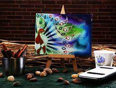 Funky mini easel fluid grace #canvas #painting buy online at #craftshopsindia
