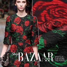 Large 3D Rose Floral Jacquard Damask Fabric Red Brocade Fabric Sewing Supplies for Designer Dressmaking Skirt Handcraft by Fabric4Crafts on Etsy https://www.etsy.com/uk/listing/481507115/large-3d-rose-floral-jacquard-damask