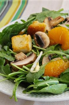 """Asian-Inspired Spinach Salad 
