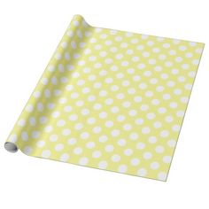 Sunny Yellow and White Polka Dots Wrapping Paper