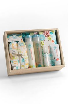 Free shipping and returns on The Honest Company Baby Arrival Gift Set at Nordstrom.com. Celebrate baby's arrival with this must-have set of safe, all-natural nursery essentials, a perfect baby shower gift for the eco-friendly family.<br><br>Set includes:<br>- Face and body lotion (8.5 oz.)<br>- Shampoo and body wash (8.5 oz.)<br>- Hand sanitizer spray (2 oz.)<br>- Healing balm (3 oz.)<br>- Assorted, unisex, size 1 diapers (7)<br>- Wipes (20)<br>- Teether