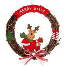 Fun Christmas Wreath | Poundland Christmas Wreaths, Christmas Ornaments, Merry Xmas, Carrot, Reindeer, My Favorite Things, Holiday Decor, Fun, Carrots