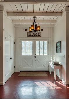 80 Modern Farmhouse Mudroom Entryway Ideas - Decorating Ideas - Home Decor Ideas and Tips Front Door Entrance, Entrance Decor, Entry Hall, Entrance Ideas, Entrance Halls, Front Entry, Nashville, Barn Living, Living Rooms