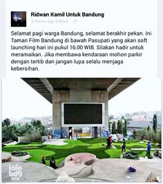 Movie Park under the bridge only at Bandung city Indonesia