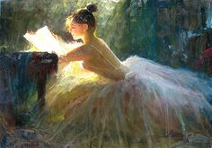 zhiwei tu art | Tu Zhiwei, Reading. I love this painting<3