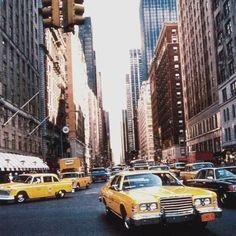 Ford Custom 500 taxi, NY 1970s