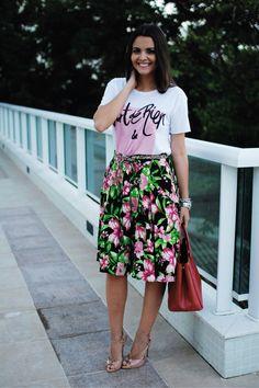 Look do dia: Girlie Floral