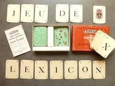 Rare ancien jeu français LEXICON de 1940  par LeGrenierDeFrancine
