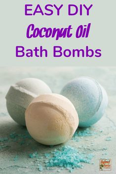 DIY easy coconut bath bombs are all the rage! You get the healing benefits of coconut oil all rolled into a super easy non-toxic bath bomb. Herb infused water really kicks these bath bombs up a notch! #bathbombs #coconutoilrecipes #DIYbathbombs From HybridRastaMama.com