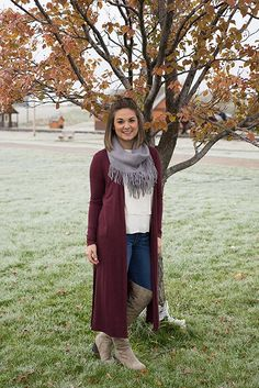 Crisp leaves and frost covered grass. 💕 🍂 #xoxoAL4You #fallweather #inlove #ootd #apricotlane #missoulastyle  The Simple Life Cardigan $34 Order through the link below! http://form.jotform.us/form/52044697810154