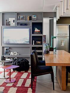 Apartamento de 58 m² aposta em peças versáteis - Casa