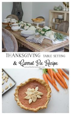 Thanksgiving Table Setting and Carrot Pie Recipe