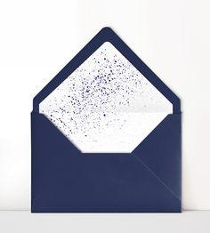 Navy Blue Wedding Invitation Envelope with Polka Dot Liner Photo Frame Wallpaper, Framed Wallpaper, Flower Background Wallpaper, Wedding Invitation Envelopes, Custom Wedding Invitations, Wedding Cards Images, Baby Messages, Powerpoint Background Design, Blue Envelopes