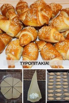 Τυροπιτάκια Greek Desserts, Greek Recipes, Light Recipes, Baby Food Recipes, Food Network Recipes, Cooking Recipes, Cypriot Food, Macedonian Food, Cooking Cake