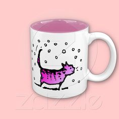PinkCat Mug by Paul Stickland for Pink Cat on Zazzle #pink #cats