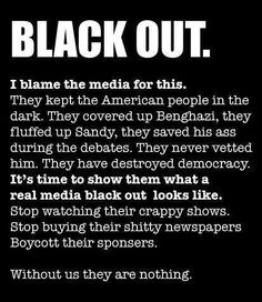 If you stop supporting the BS biased crap the media spews out, they won't be able to survive. Their message and agenda live on as long as you support it. Get your news from better sources! They exist!