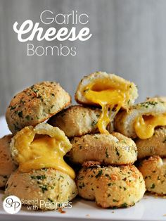 Garlic Cheese Bombs! These are the most amazing ooey gooey cheese buns ever!