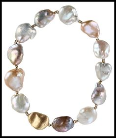 Yvel Souffle Baroque Pearl Necklace. Via Diamonds in the Library.