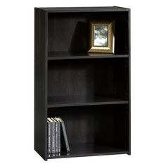 room essentials 5 shelf bookcase espresso put on its side and put file crates inside. Black Bedroom Furniture Sets. Home Design Ideas