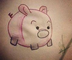 Piggy watercolor