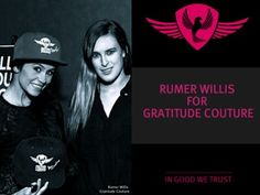 Former Dancing With The Stars (DWTS) champion Rumer Willis supports Gratitude Couture's brand and anti-bullying message