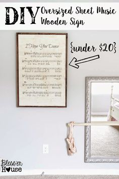 Oversized Sheet Music Art  |  Blesser House