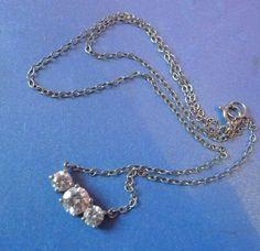 Vintage Fashion Fine Costume Jewelry Silver Necklace Pendant marked 925 GZ China #Pendant