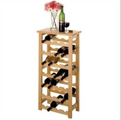 DSHD-Basics 28 Bottle Wine Rack    Holding 28 bottles without taking up much floor space, this Basics wine rack is perfect for those trying to conserve a little space. Its simple and clean design will fit in anywhere.