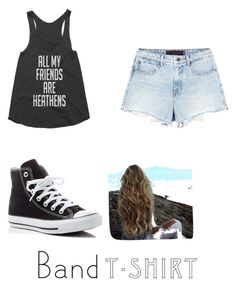 """21pilots"" by jarahmarie ❤ liked on Polyvore featuring Alexander Wang, Converse, bandtshirt and bandtee"