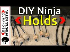 Make your own Ninja Warrior Cannonball and Nunchuck Holds for nearly free! | Mud and Adventure | Outdoor Active Adventures Begin Here.