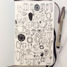 A crystals page for your grimoire