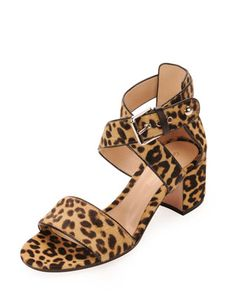 Monday, December 9th: Gianvito Rossi Leopard-Pring Calf Hair Low-Heel Sandal, 212 872 8940