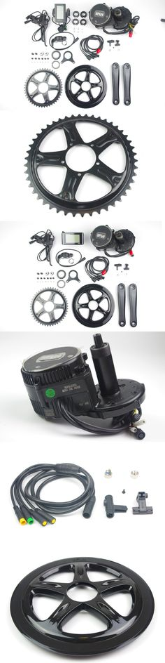 Air free shipping 48V 750WHD mid-crank electric bicycle conversion kits for snow fat bike