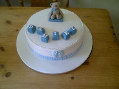 Christening cake for a boy.