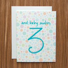 And Baby Makes 3 Card by Happy Cactus Designs