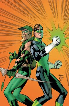 Green Arrow and Green Lantern Hal Jordan by Carlos Pacheco