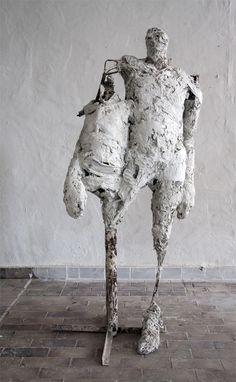 Bildhauerei Figur, Hauptstudium, 3. Studienjahr Plaster Art, Creation Art, Art Sculpture, Art Thou, Weird Art, Monster, Statue, Public Art, Art Oil